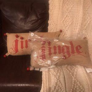 NWT Pottery Barn Jingle Pillows Set of 2